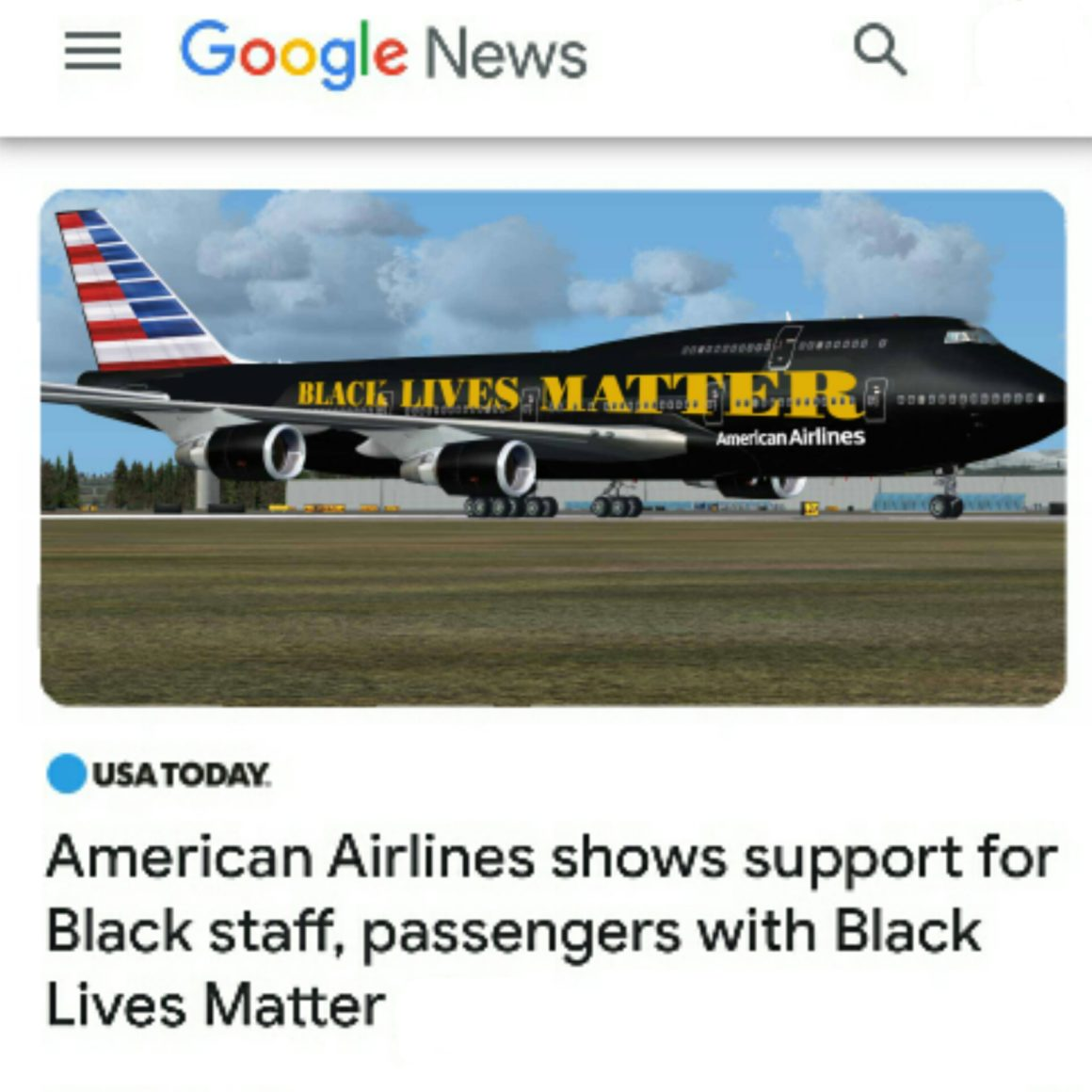 Black Lives Matter Airlines